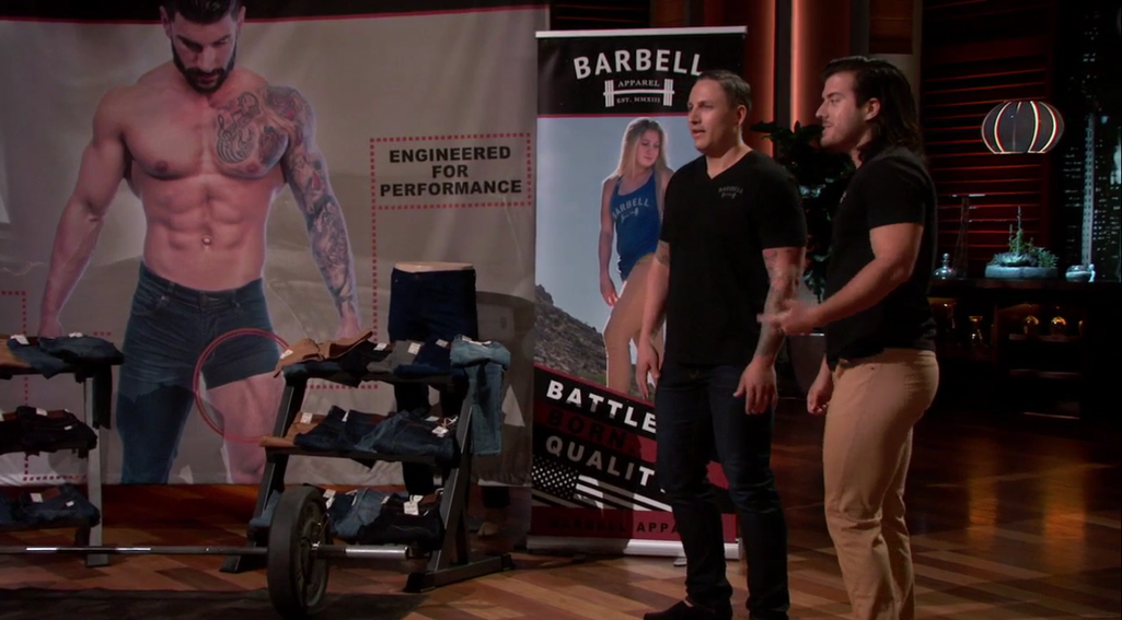 barbell apparel shark tank